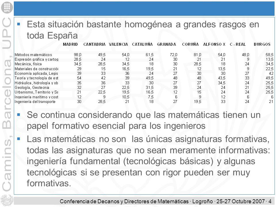 Esta situación bastante homogénea a grandes rasgos en toda España