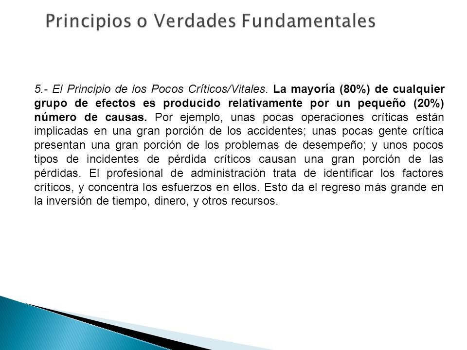 Principios o Verdades Fundamentales