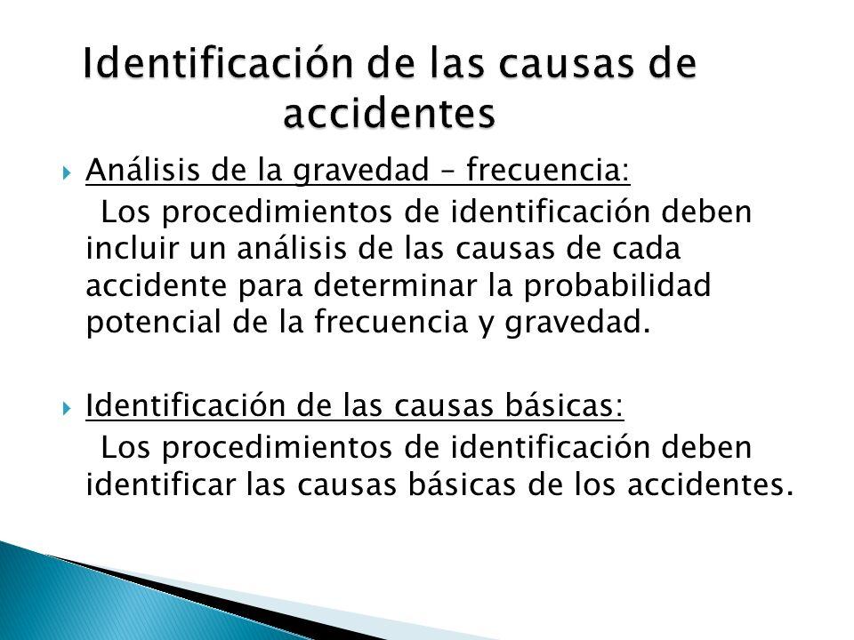 Identificación de las causas de accidentes