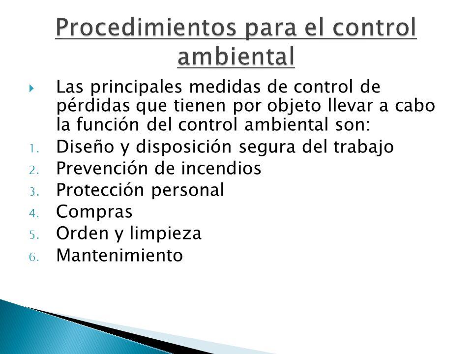 Procedimientos para el control ambiental
