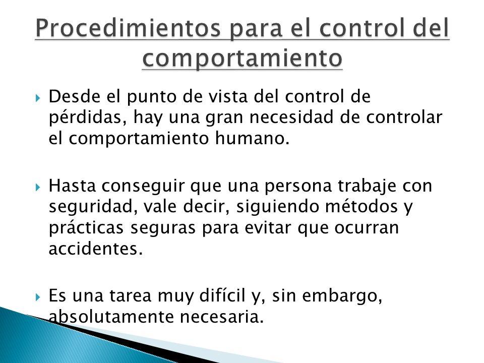 Procedimientos para el control del comportamiento