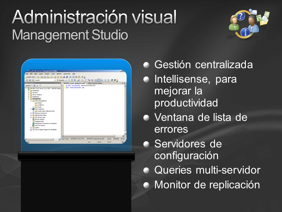 Administración visual Management Studio