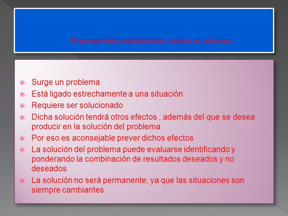 El pensamiento administrativo basado en sistemas