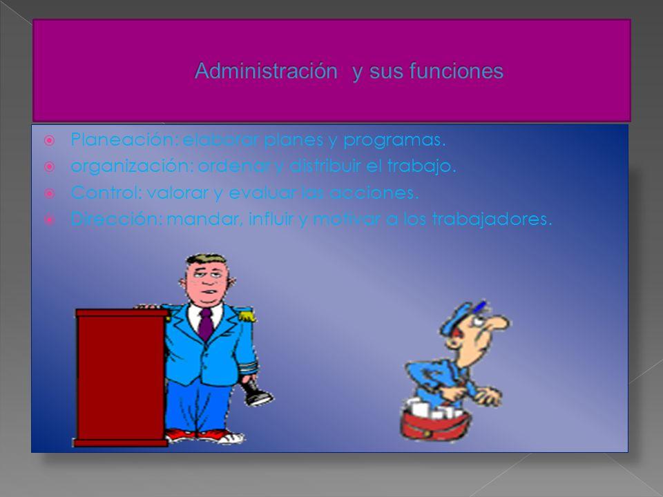 Administración y sus funciones