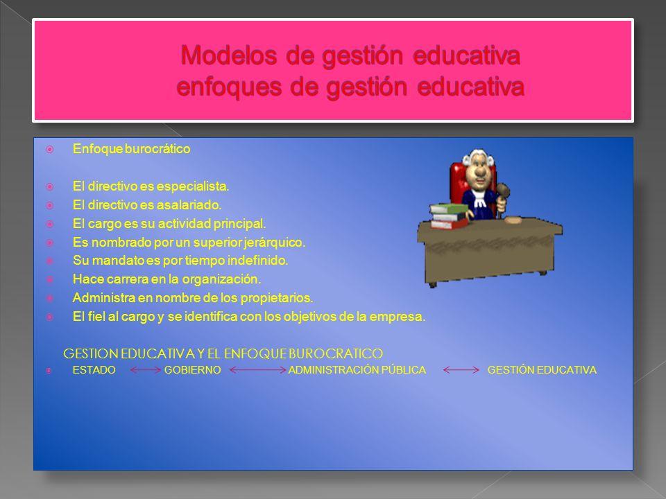 Modelos de gestión educativa enfoques de gestión educativa