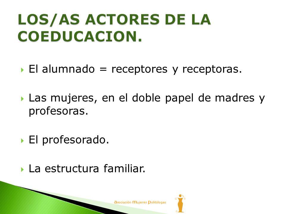 LOS/AS ACTORES DE LA COEDUCACION.