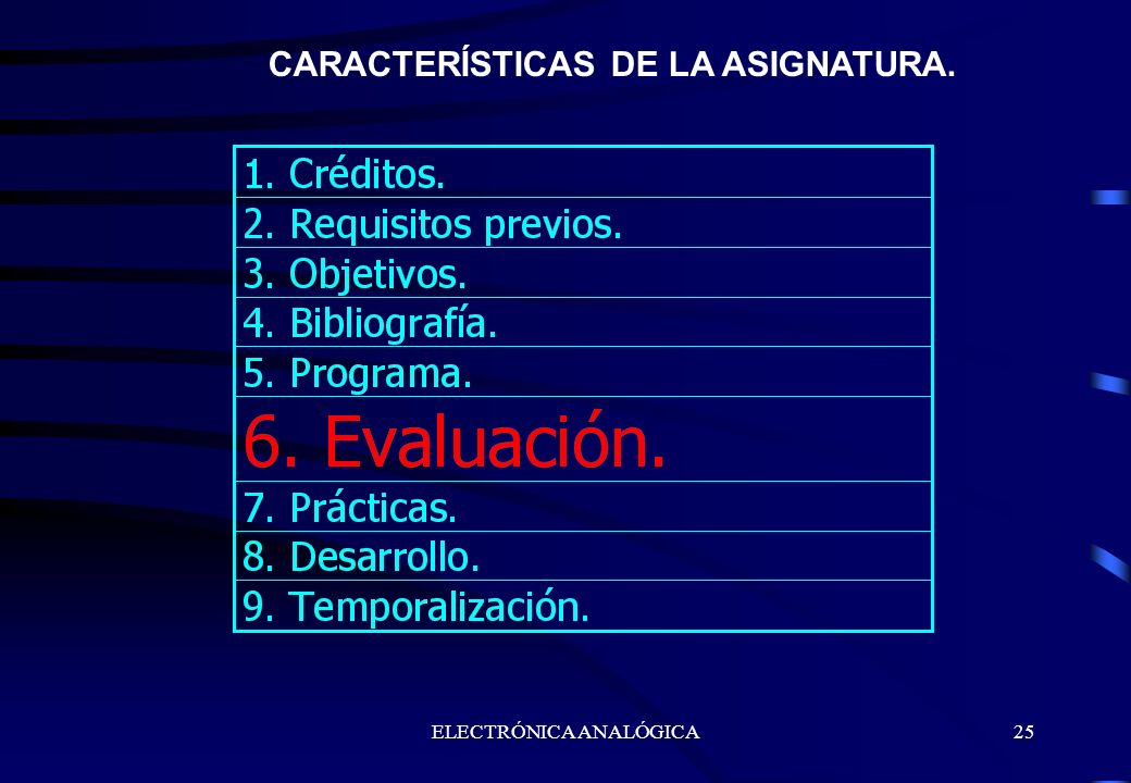 CARACTERÍSTICAS DE LA ASIGNATURA.