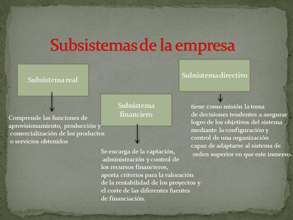 Subsistemas de la empresa
