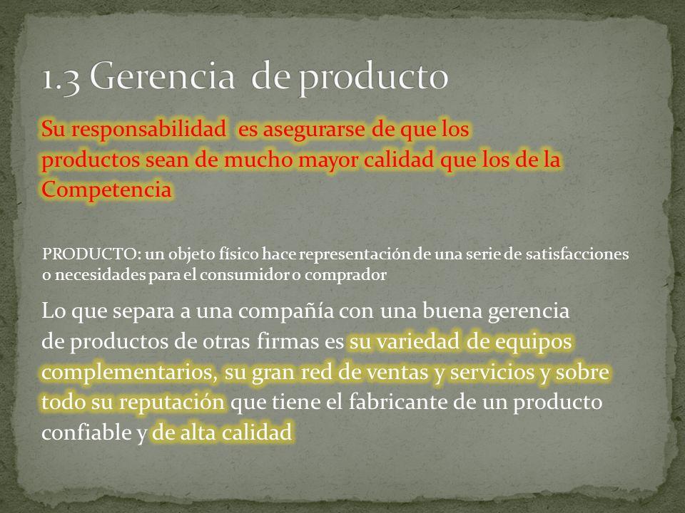 1.3 Gerencia de producto
