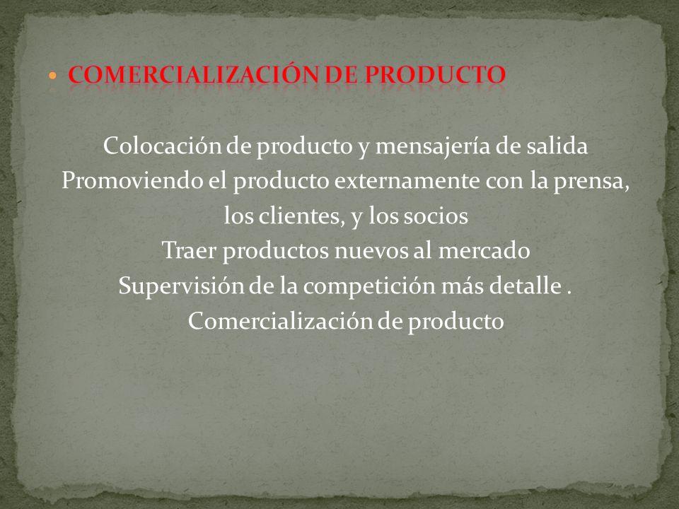 Comercialización de producto