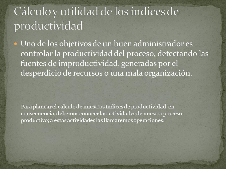 Cálculo y utilidad de los índices de productividad