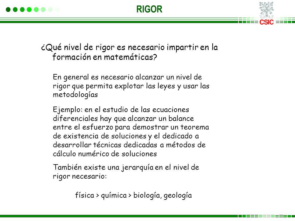física > química > biología, geología
