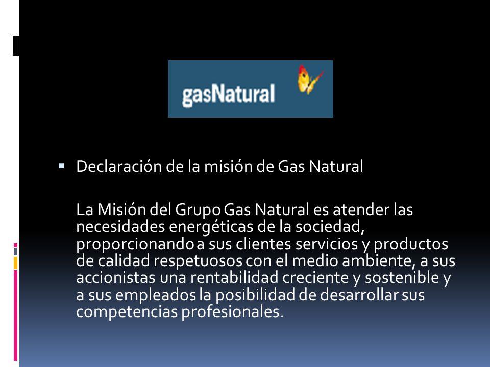 Declaración de la misión de Gas Natural