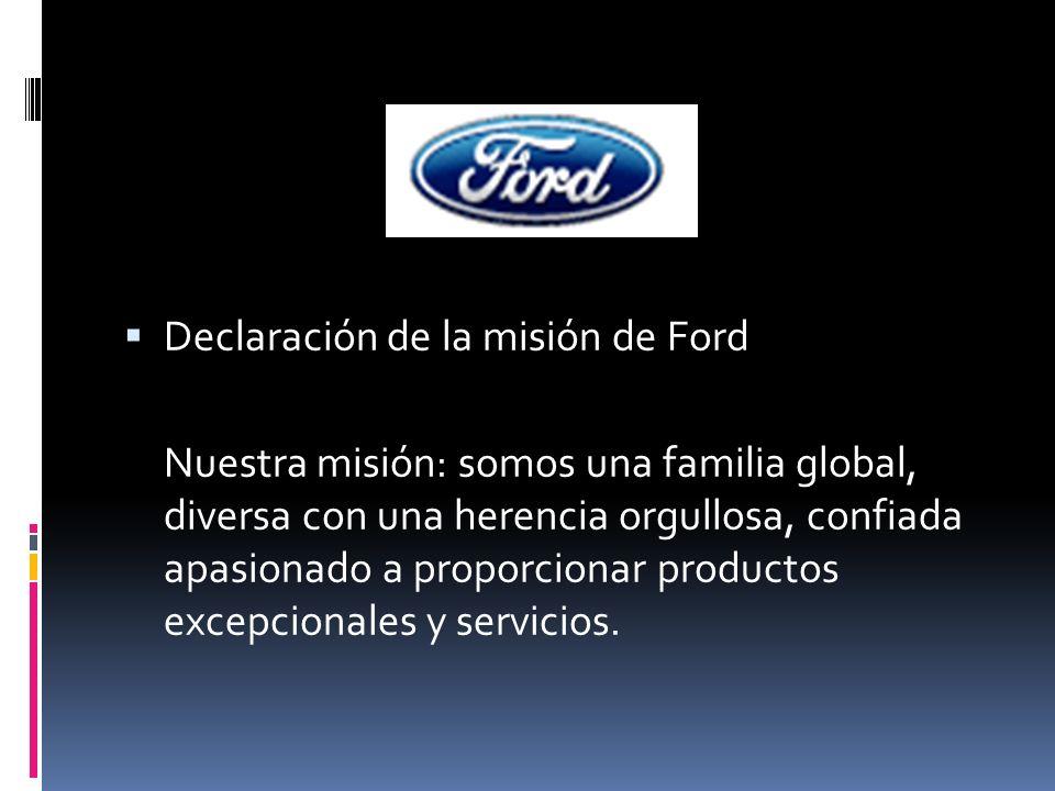 Declaración de la misión de Ford