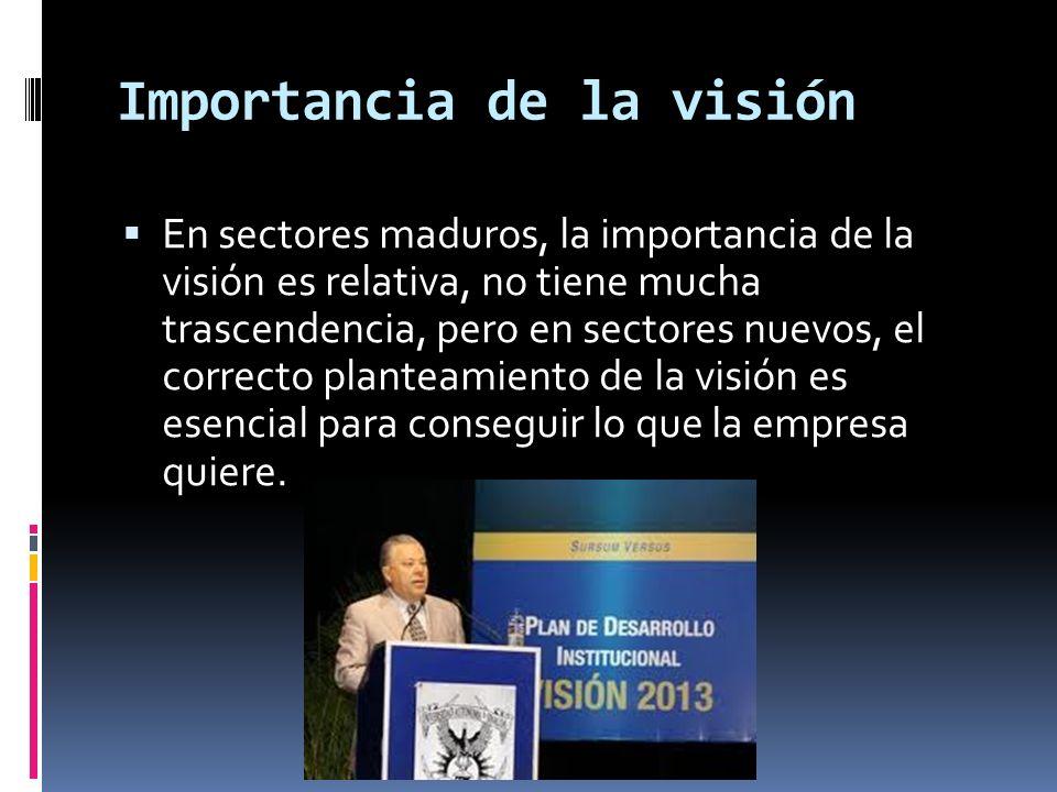 Importancia de la visión