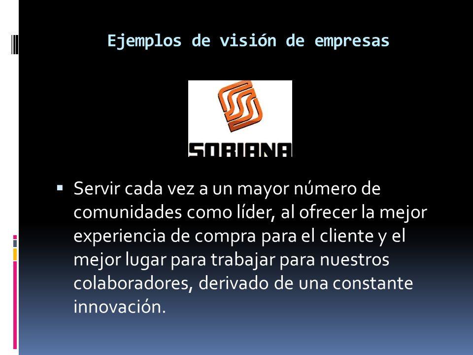 Ejemplos de visión de empresas