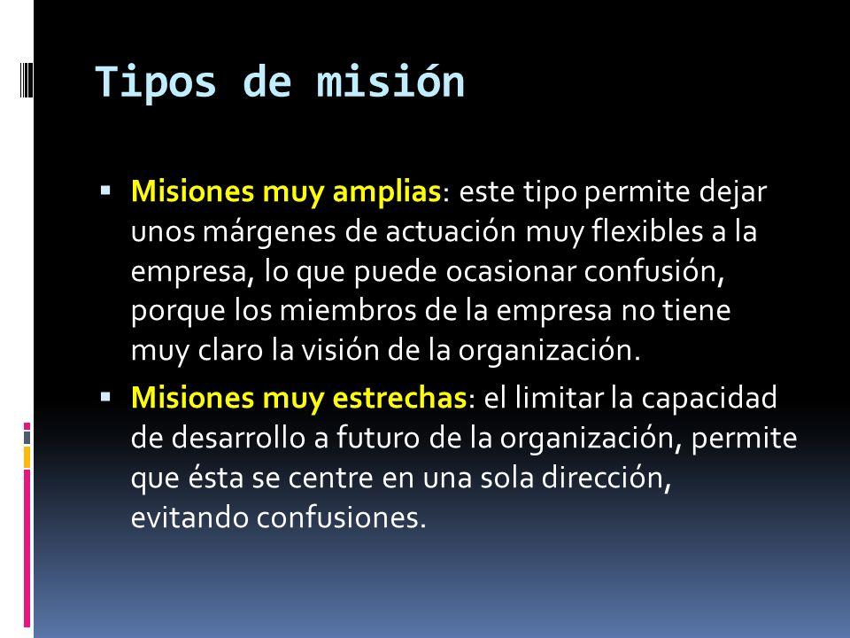 Tipos de misión