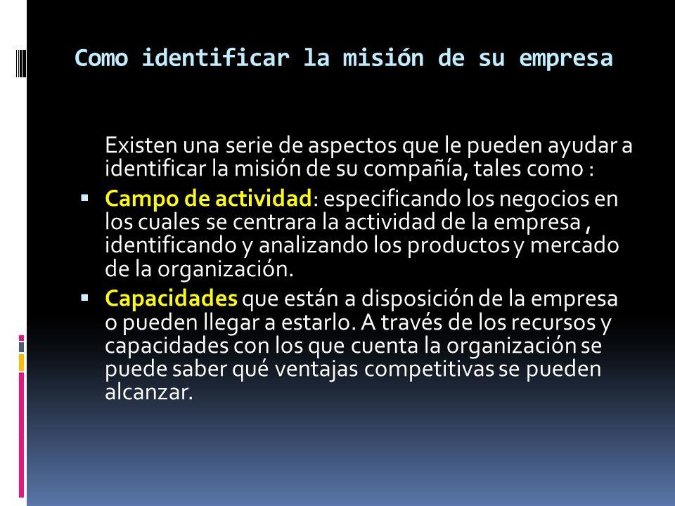 Como identificar la misión de su empresa