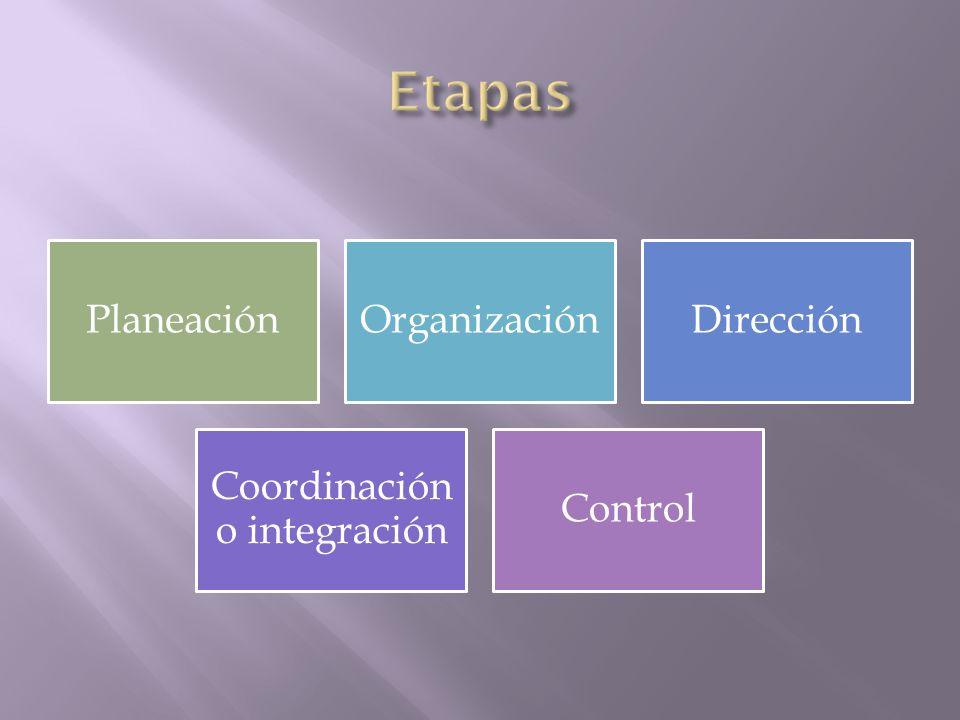 Coordinación o integración