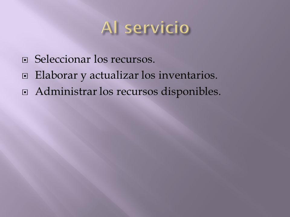 Al servicio Seleccionar los recursos.
