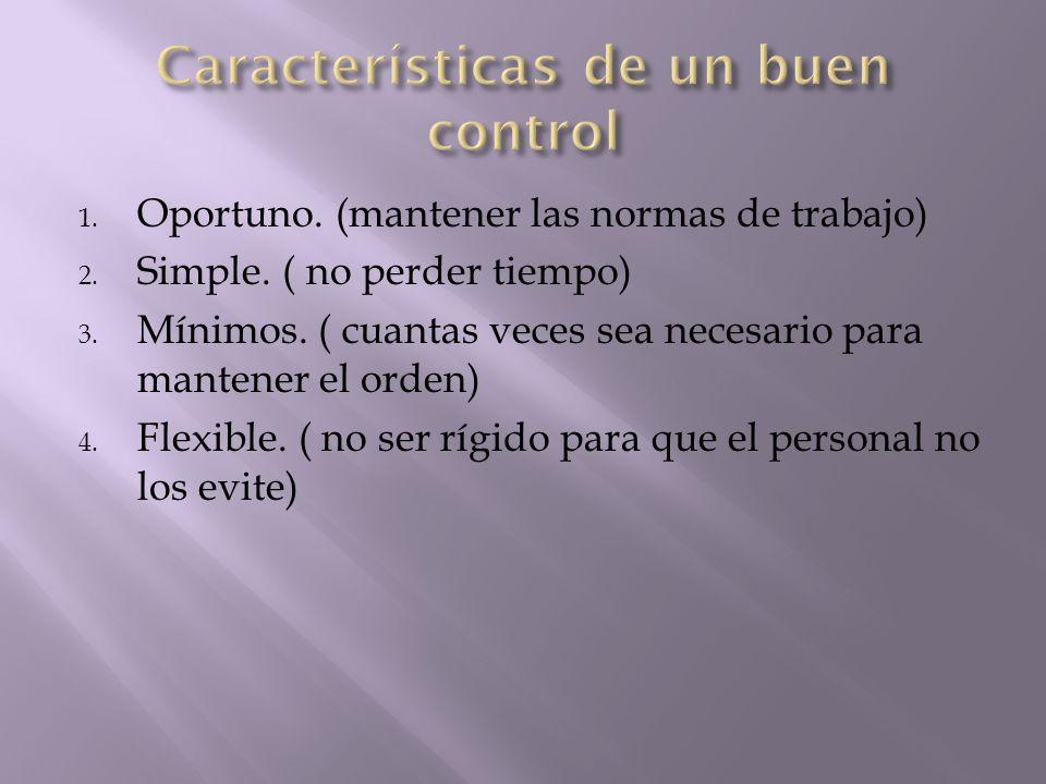 Características de un buen control