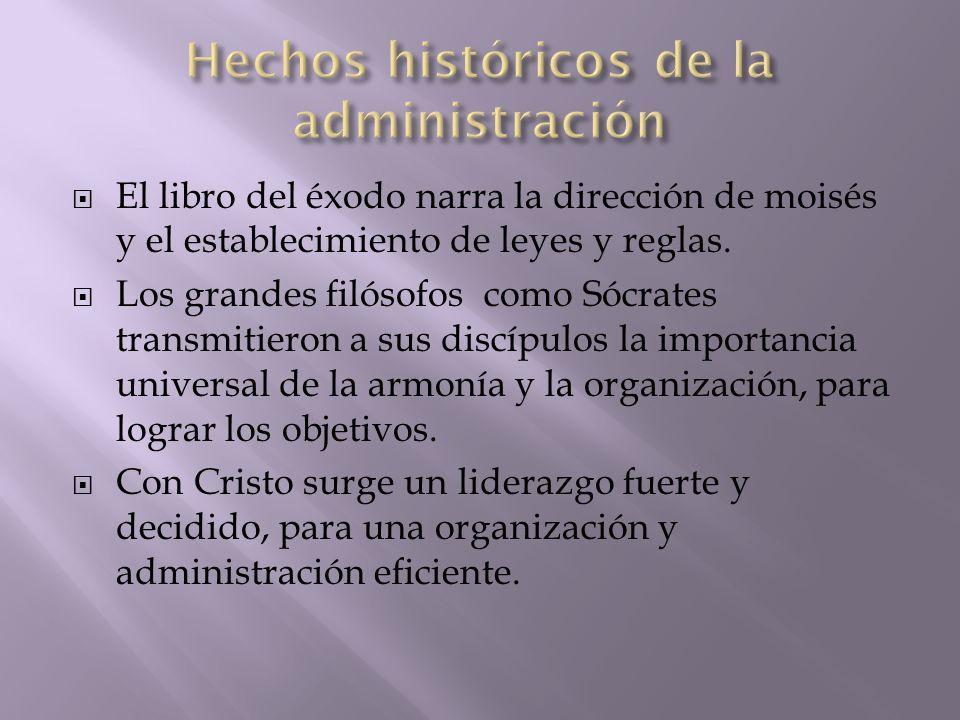 Hechos históricos de la administración