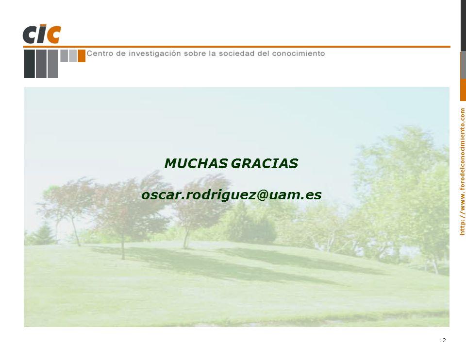 MUCHAS GRACIAS oscar.rodriguez@uam.es