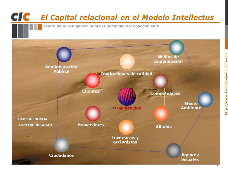 El Capital relacional en el Modelo Intellectus