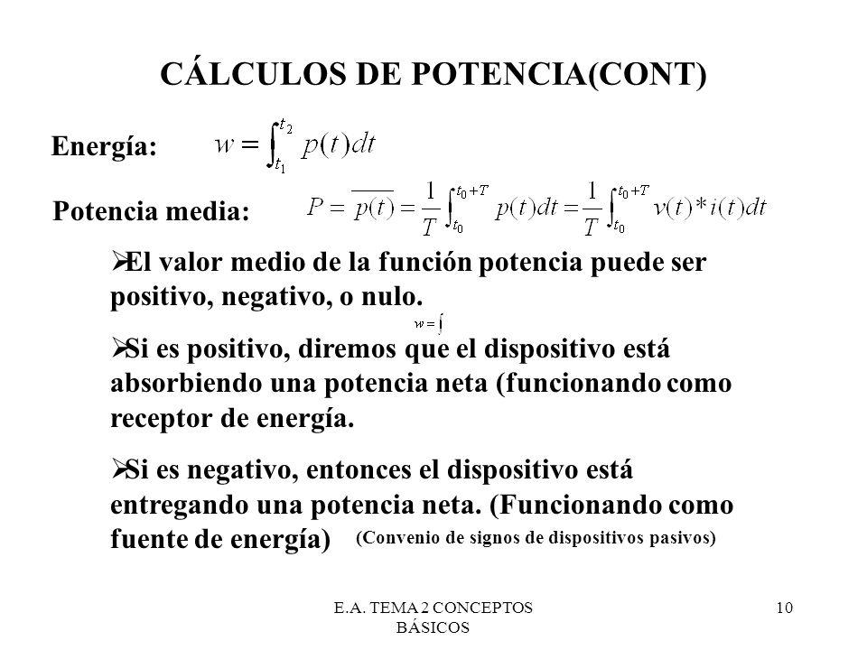 CÁLCULOS DE POTENCIA(CONT)