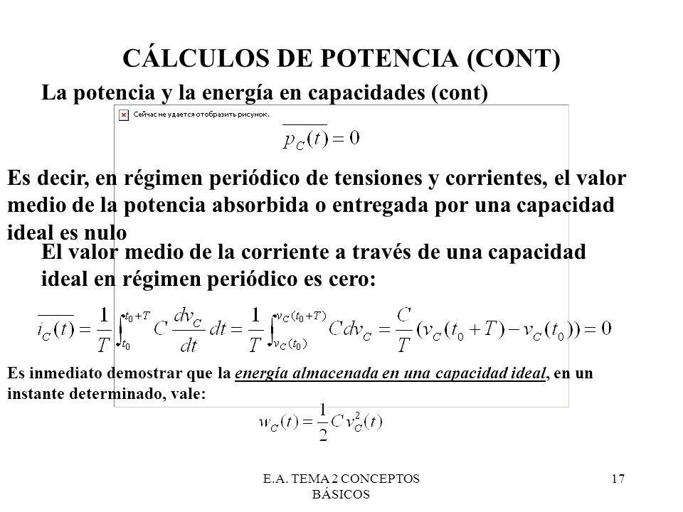 CÁLCULOS DE POTENCIA (CONT)
