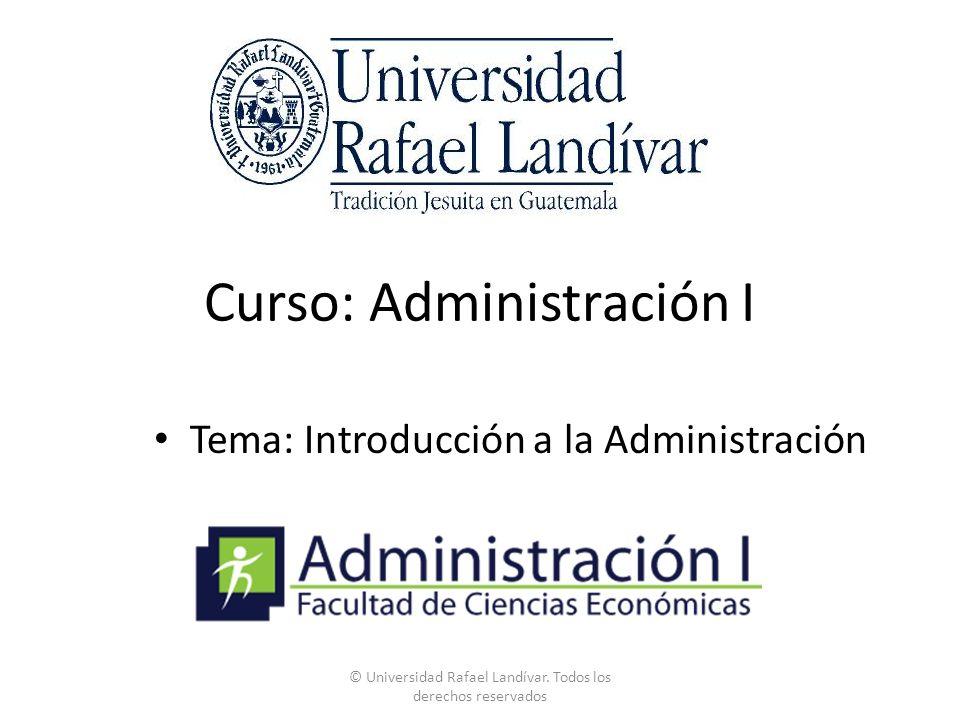 Curso: Administración I