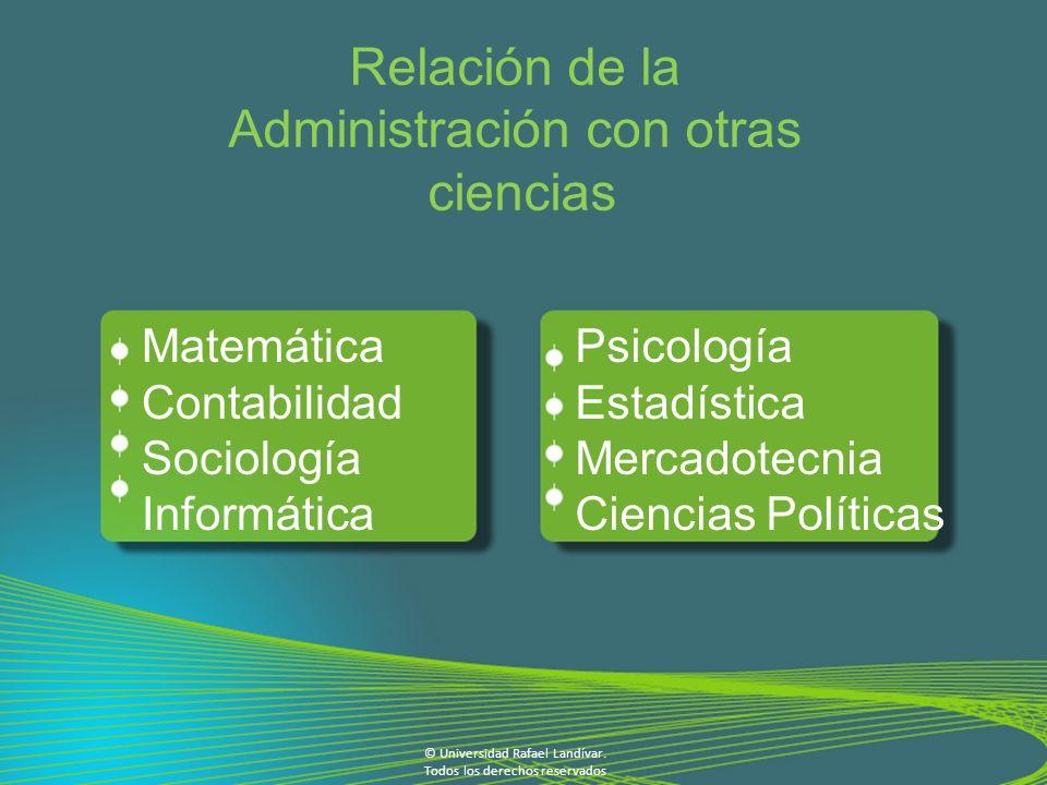 Administración con otras ciencias
