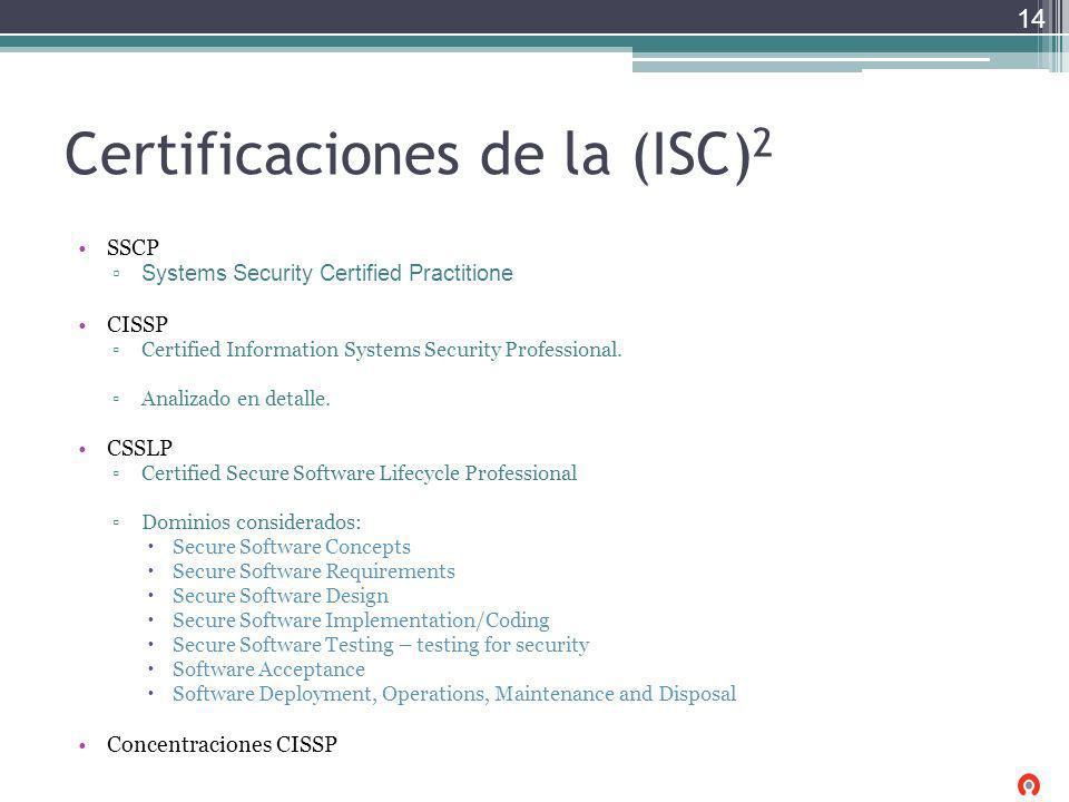 Certificaciones de la (ISC)2