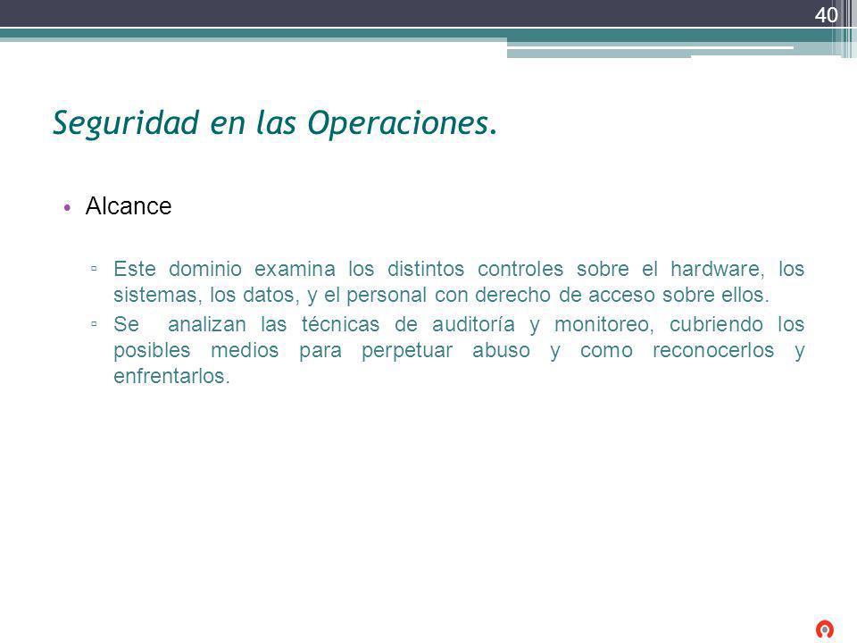 Seguridad en las Operaciones.