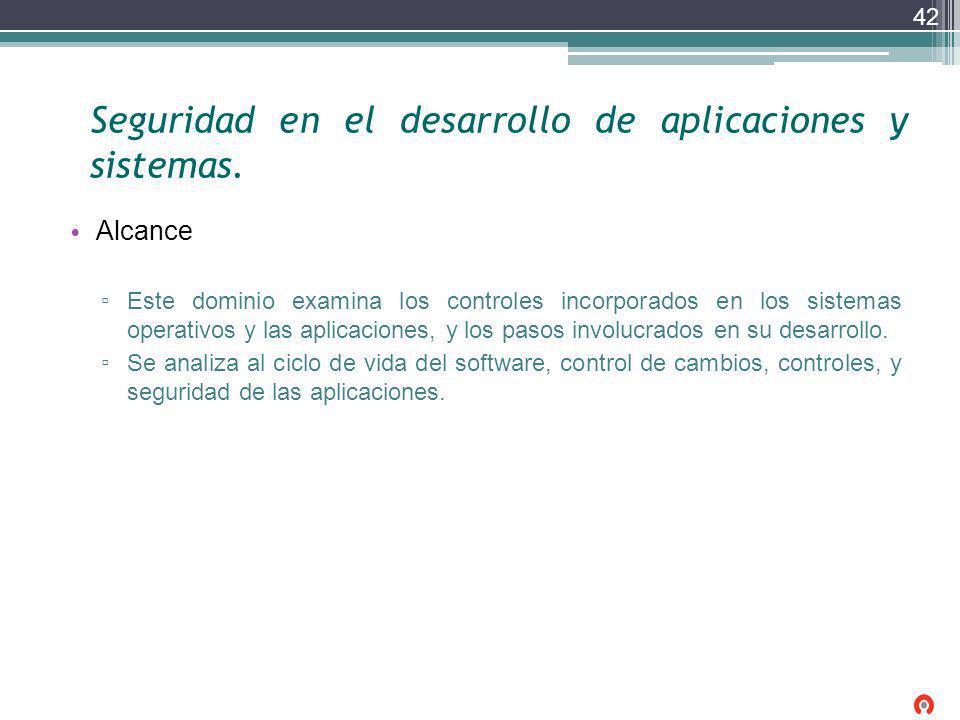 Seguridad en el desarrollo de aplicaciones y sistemas.