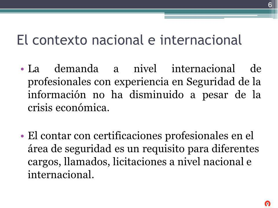 El contexto nacional e internacional