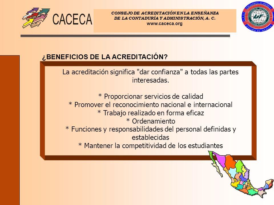 ¿BENEFICIOS DE LA ACREDITACIÓN