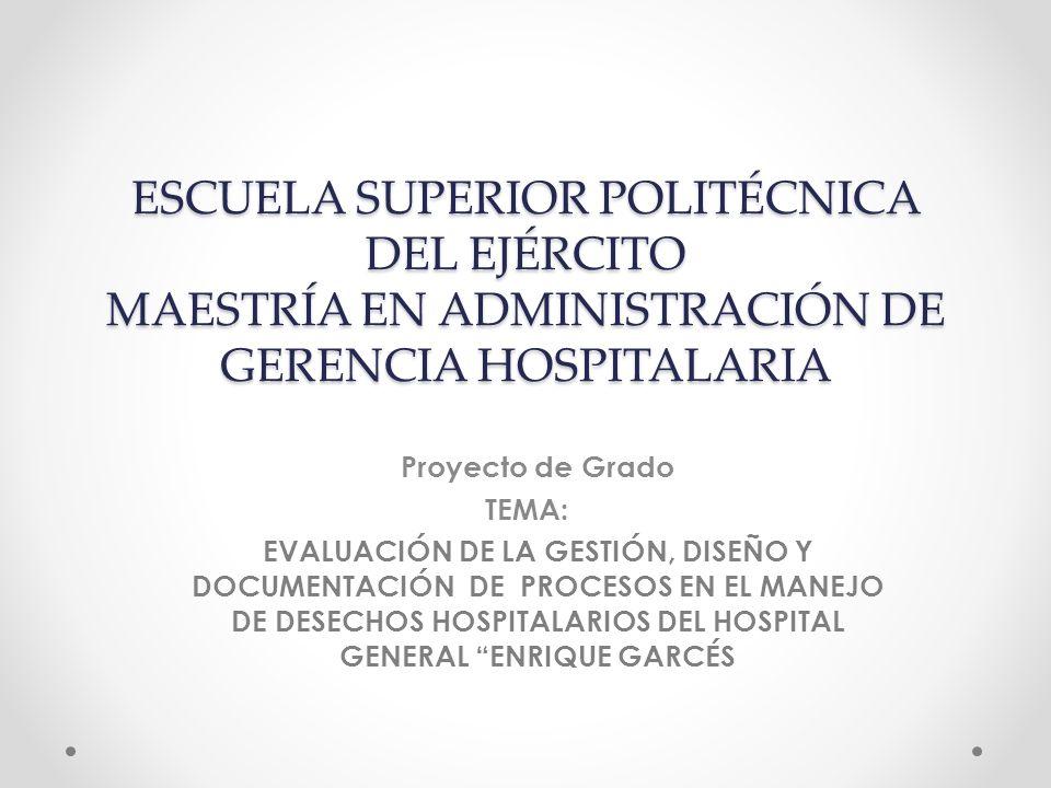 ESCUELA SUPERIOR POLITÉCNICA DEL EJÉRCITO MAESTRÍA EN ADMINISTRACIÓN DE GERENCIA HOSPITALARIA