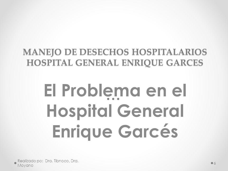MANEJO DE DESECHOS HOSPITALARIOS HOSPITAL GENERAL ENRIQUE GARCES