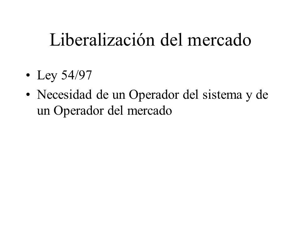 Liberalización del mercado