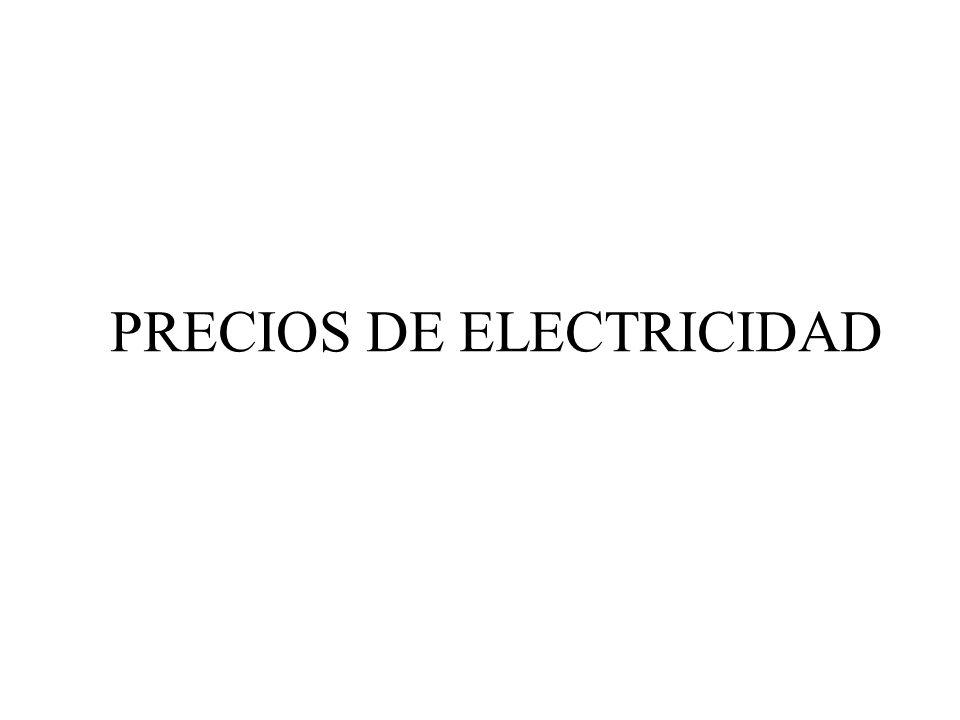 PRECIOS DE ELECTRICIDAD