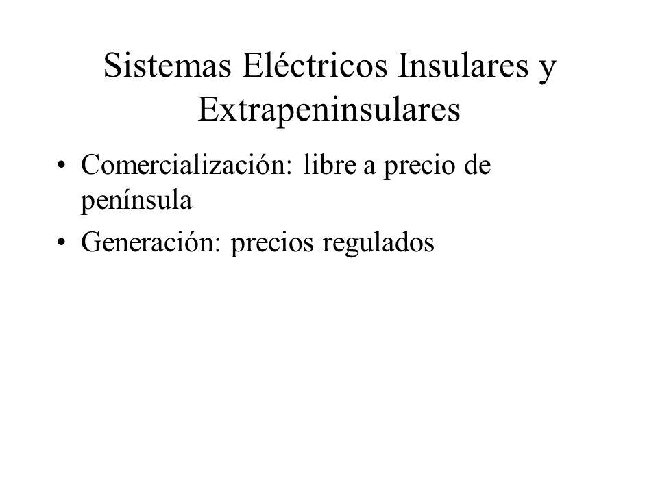 Sistemas Eléctricos Insulares y Extrapeninsulares