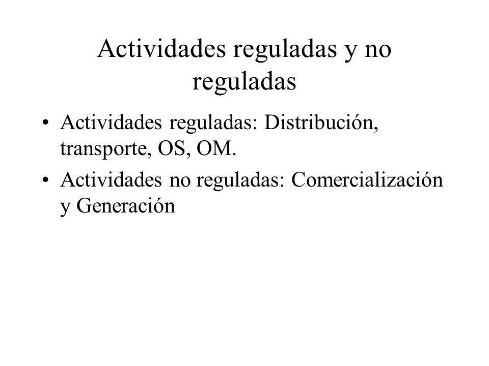 Actividades reguladas y no reguladas