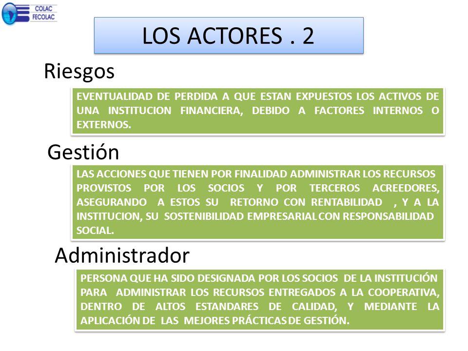 LOS ACTORES . 2 Riesgos Gestión Administrador