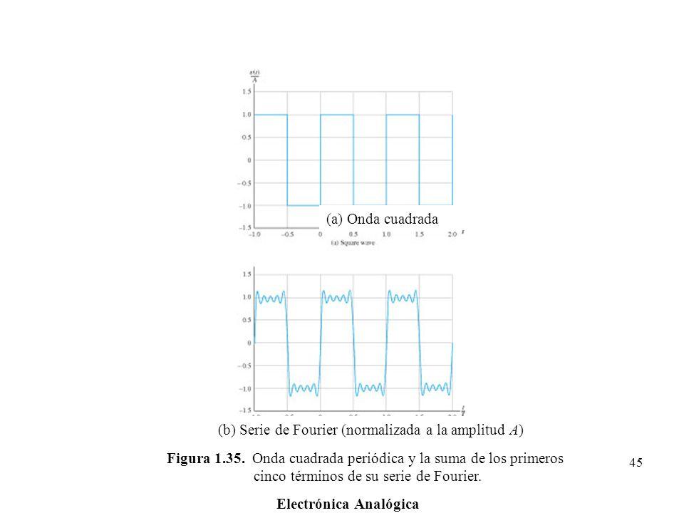 (b) Serie de Fourier (normalizada a la amplitud A)