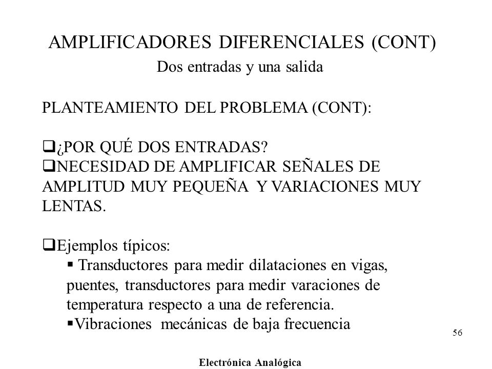 AMPLIFICADORES DIFERENCIALES (CONT)