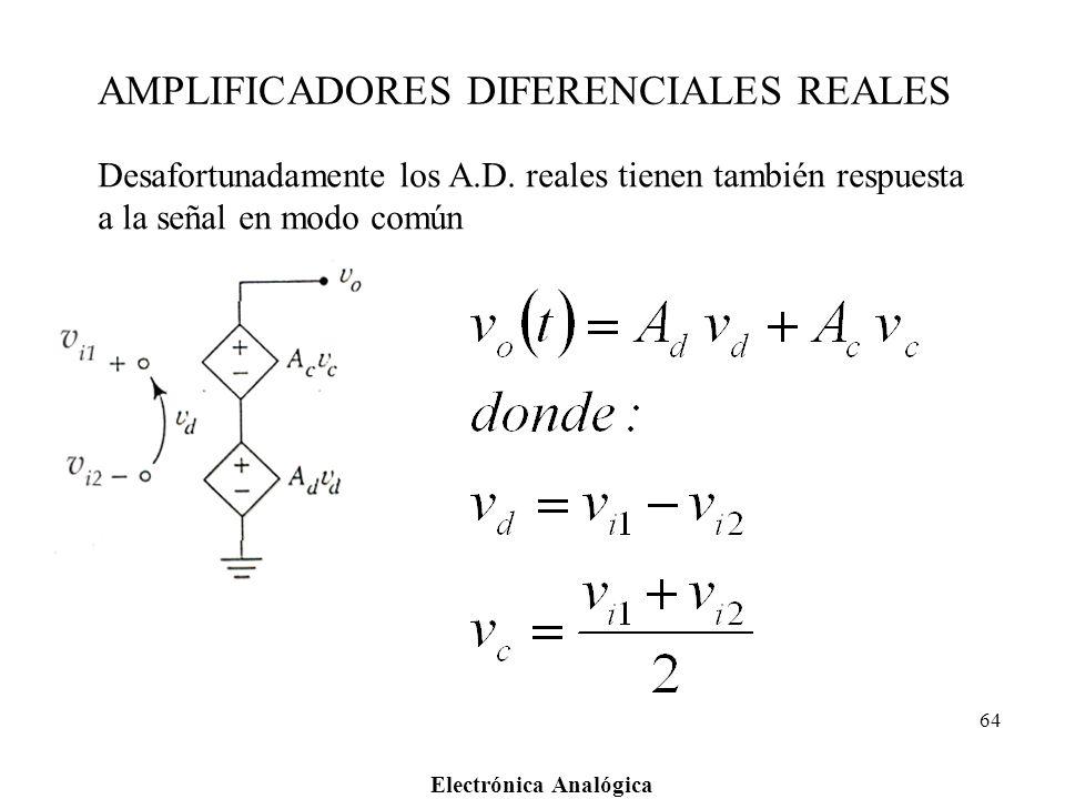 AMPLIFICADORES DIFERENCIALES REALES