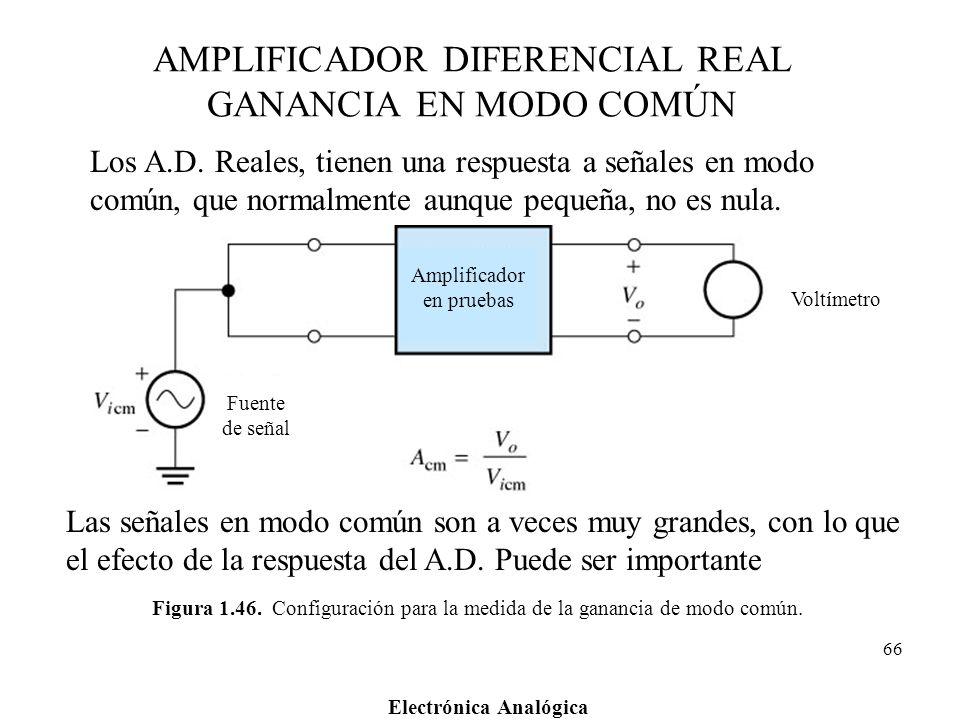 AMPLIFICADOR DIFERENCIAL REAL GANANCIA EN MODO COMÚN