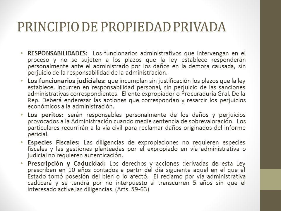 PRINCIPIO DE PROPIEDAD PRIVADA