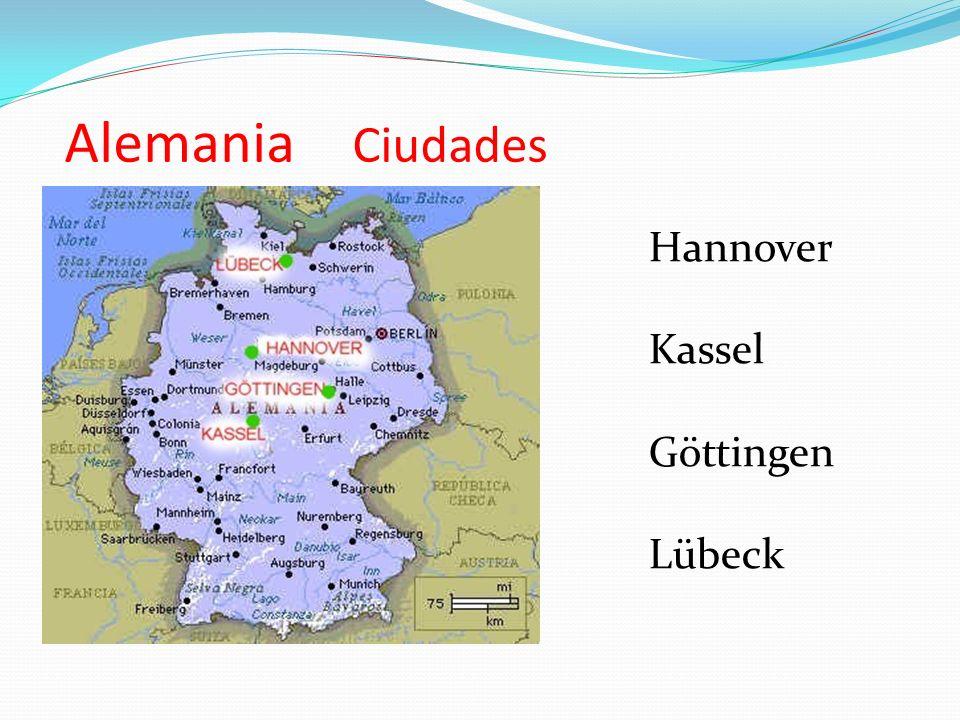 Alemania Ciudades Hannover Kassel Göttingen Lübeck